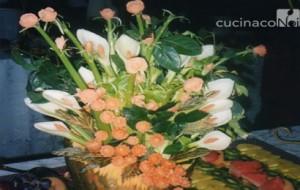 buffet composizione-scultura-vegetale