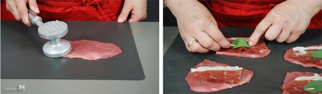 Preparazione ricetta saltimbocca alla romana