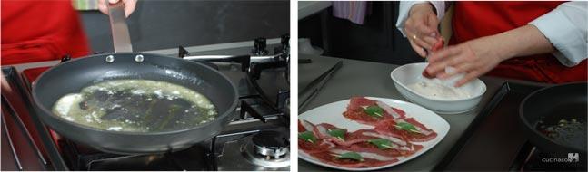 Cucinare ricetta saltimbocca alla romana