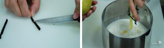 Preparazione ricetta crema pasticcera