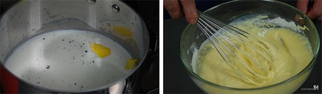 Preparazione crema pasticcera