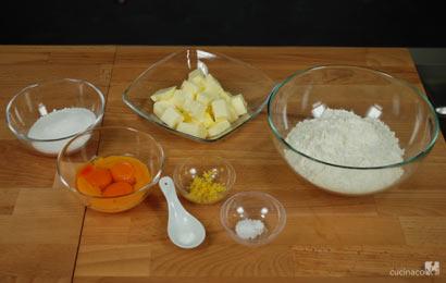Ingredienti ricetta pasta frolla