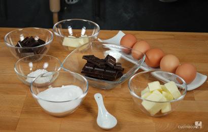 Ingredienti ricetta torta al cioccolato
