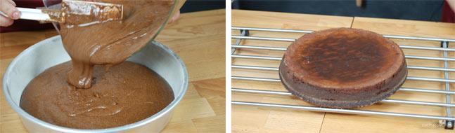 Come versare ingredienti ricetta torta al cioccolato