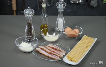 Ingredienti ricetta alla carbonara