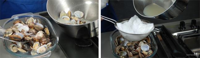 pasta con funghi e vongole proc 5