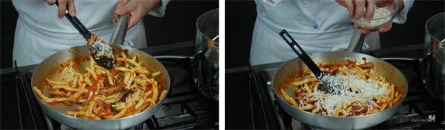 Ricetta pasta alla norma - pasta con formaggio