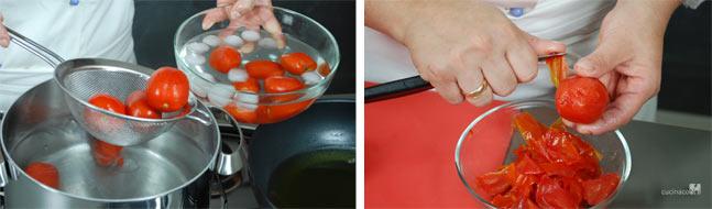 Ricetta pasta alla norma - Preparazione pomodori
