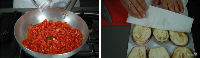 Ricetta pasta alla norma - cottura pomodori