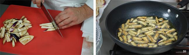 Ricetta pasta alla norma - cottura melanzane