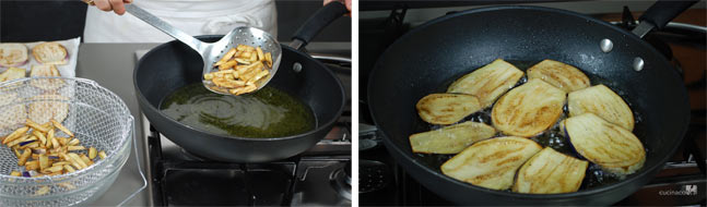 Ricetta pasta alla norma - frittura melanzane