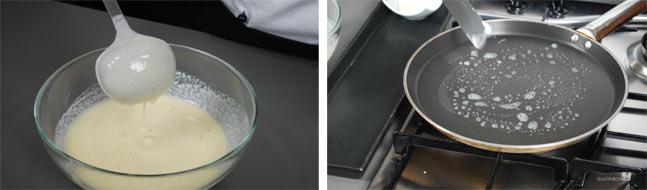 Ricetta crepes - cottura