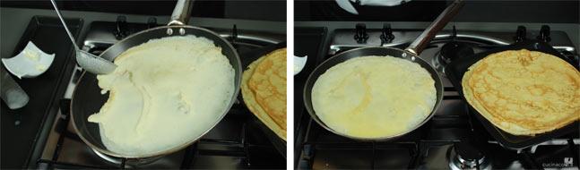 Ricetta crepes - la pastella nella padella