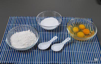 Ingredienti ricetta pan di spagna