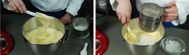Ricetta pan di spagna, come incorporare la farina
